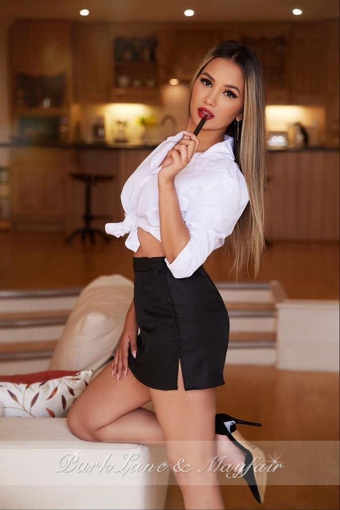 A photo of agency escort Katherine in her sexy outfit looking as beautiful as ever