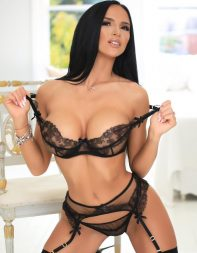 Busty escort Sapphire in designer lingerie set - Eastern European escort in Fulham, Chelsea