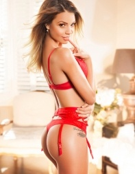 High class escort Mandy is sexy and seductive in her naughty red lingerie. - European escort in Mayfair, Park Lane, Marble Arch