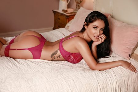 A photo of Westminster call girl Vanessa in her red lingerie