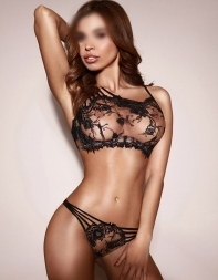 High class escort Aysha in designer lingerie - Eastern European escort in Kensington, Central London
