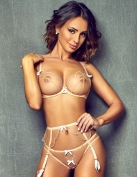 Party escort Erin in sheer bra and panties - Eastern European escort in Kensington, Earls Court, Heathrow