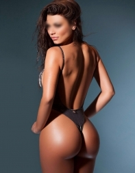 Brazilian escort Gia in thong bodysuit