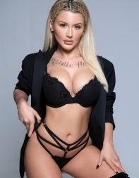 Fantasy escort Ivy in sexy black lingerie - European escort in Mayfair, Park Lane, West End