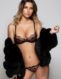 High class model escort Monique looking stunning in her lingerie - European escort in Chelsea, Knightsbridge
