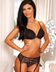 Young escort Juniper in black lingerie - Eastern European escort in Mayfair, Bayswater