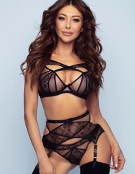 Nadine in her black lingerie and stockings - Russian escort in Mayfair, West End, Park Lane