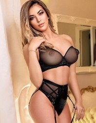 Georgie in her sexy black lingerie set - Eastern European escort in Kensington, South Kensington, Central London